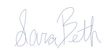 Sara Beth Signature